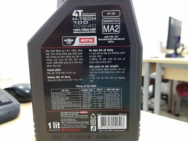 Cách phân biệt dầu nhớt motul giả - 4