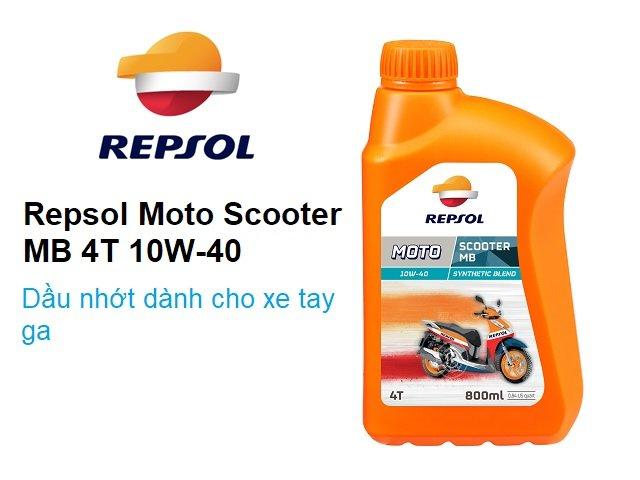 Repsol moto scooter mb 10w40 - dòng nhớt mới dành cho xe tay ga - 6