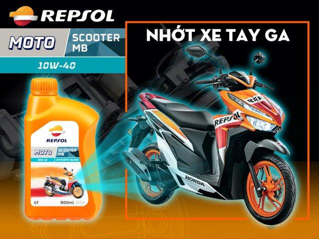 Repsol moto scooter mb 10w40 - dòng nhớt mới dành cho xe tay ga - 9
