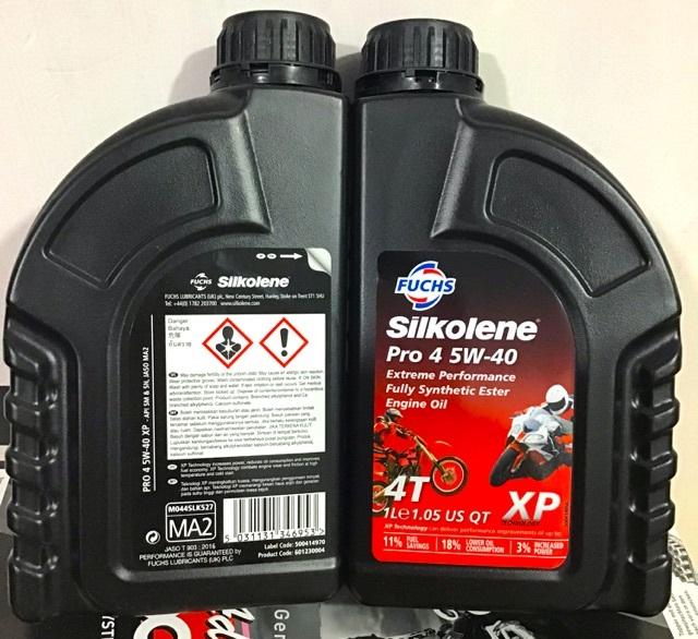 Fuchs sikolene pro 4 10w40 xp - nhớt dành cho xe côn tay xe số - 3