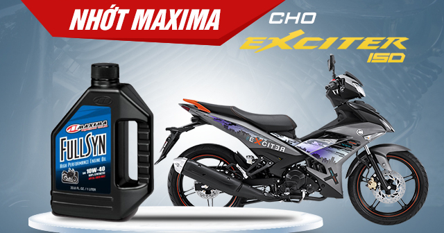 Maxima full syn 10w40 - nhớt tốt cho xe exciter 150 - 1