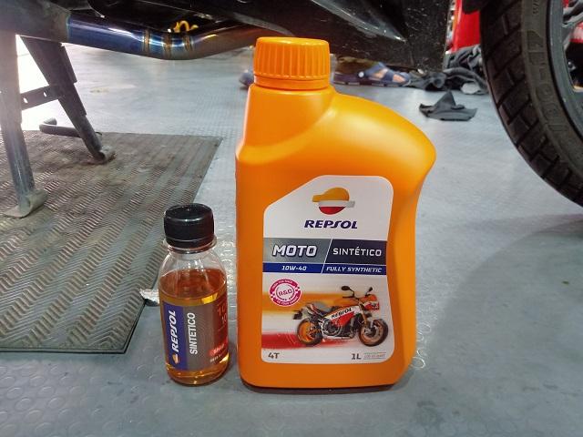 Nhớt chiết lẻ repsol sintetico 10w40 100ml - 1