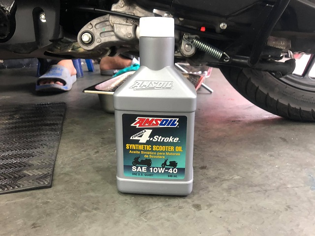 Amsoil 10w40 synthetic scooter - 2