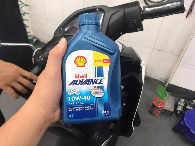 Shell advance 4t ax7 10w40 synthetic based 08l - 1