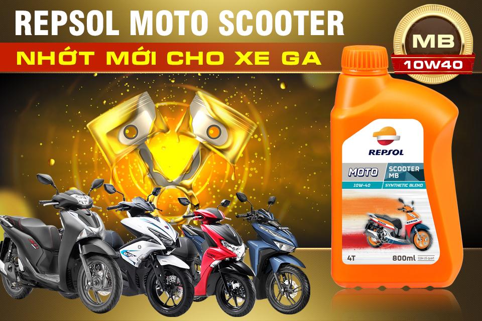 Repsol Moto Scooter MB 10W40 - Dòng nhớt mới dành cho xe tay ga